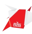 origami paper red banner vector image