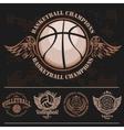 Basketball Logos American Logo Sports vector image