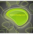 abstract background with green bubble vector image