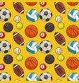balls sports pattern background vector image