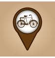bicycle symbol vintage color icon vector image