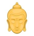 Head of Buddha icon cartoon style vector image
