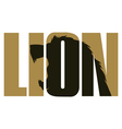 Lion sign vector image
