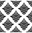 Seamless arabesque pattern in diamond shape vector image