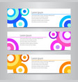 set of design circle banner template vector image