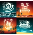 Surfing Colored Composition vector image