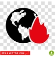 Planet Flame Eps Icon vector image