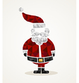 Merry Christmas trendy Santa Claus triangle shape vector image