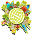people Planet vector image