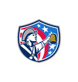 American Patriot Craft Beer Mug USA Flag Crest vector image