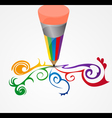 colored pencil vector image vector image
