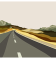 background empty highways in the highlands vector image