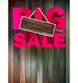 Big sale with wood for copy space vector image