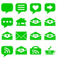 internet icons set - website green buttons vector image