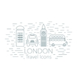 London linear banner vector image