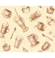 Seamless background coffee and tea vector image