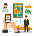 Taxi Service Conceptual vector image