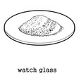 watch glass icon outline vector image