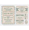 Wedding invitation sets for in a rope theme vector image