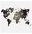 World map isolated on white background Worldmap vector image