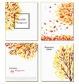 Fall of the leaves Hello autumn Leaves are drawn vector image
