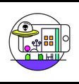 augmented reality icon vector image