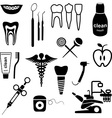 Dental icons black vector image vector image