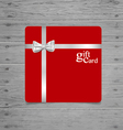 Gift coupon with gift bow and ribbon vector image