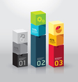 infographic template Modern box Design Minimal vector image vector image