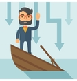 Business drowned vector image