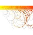 swirl background in orange color vector image