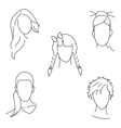 hair style vector image vector image
