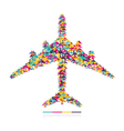 Airplane consisting of airplanes vector image vector image
