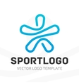 Template sport logo vector image vector image