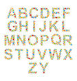 Alphabets Set letters of stylized colorful bubbles vector image