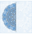 blue colour floral round pattern vector image