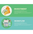 Flat design concepts for business finance vector image