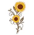 flowers floral elements vector image