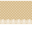 lace and ribbon on polka dot fabric vector image