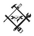 repair symbol with tool vector image