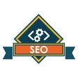 Seo over label design vector image