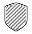 shield in monochrome contour and stripe design vector image