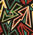 tribal geometric seamless pattern with grunge vector image