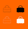 woman bag icon vector image