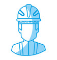 blue silhouette with half body of faceless vector image