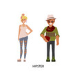 man and woman hipsters vector image vector image