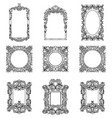 Rich imperial baroque rococo frames set french vector image