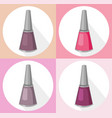 nail polish set collection vector image