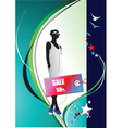 fashion sale poster vector image vector image