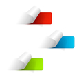 Set of multicolored sticker labels vector image vector image